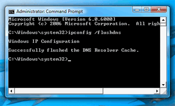 flush dns in Windows