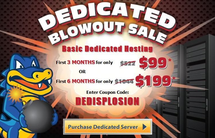 HostGator Dedicated Offer