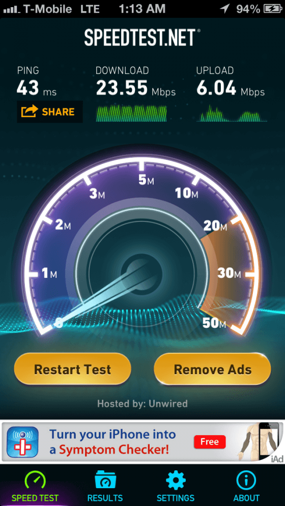 iPhone 5 on LTE at SF
